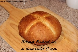 Bread baked in a kamado