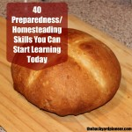 40 Preparedness/Homesteading Skills You Can Learn Today!