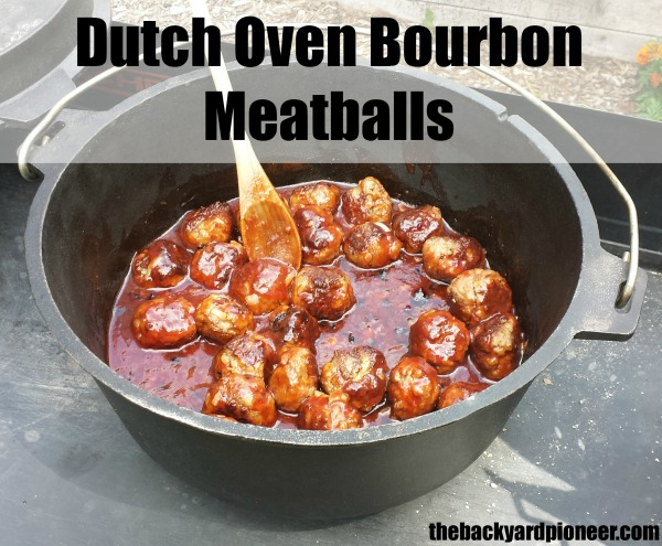Dutch Oven Bourbon Meatballs